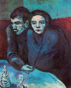 Picasso Man and Woman in Cafe