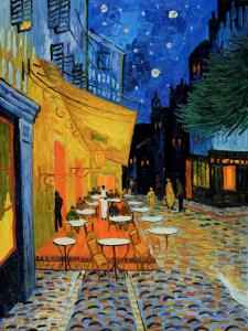 Van Gogh cafe terrace at night